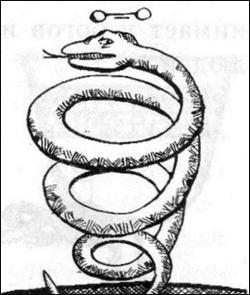 улыбающаяся змея символизирует мышьяк