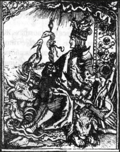 Максимиллиан в окружении символических животных