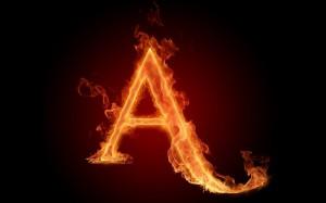 "символ "" А """